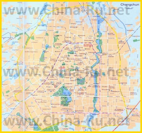 Подробная карта города Чанчунь