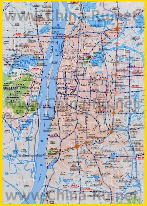 Подробная карта города Чанша