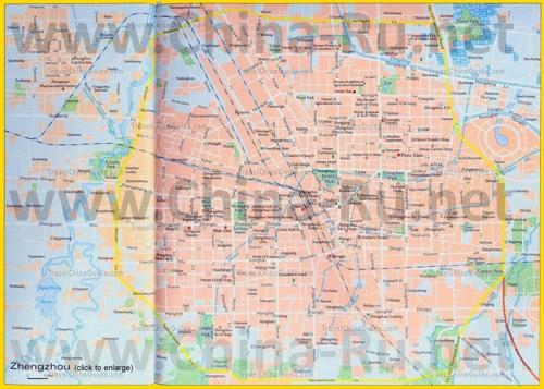Подробная карта города Чжэнчжоу