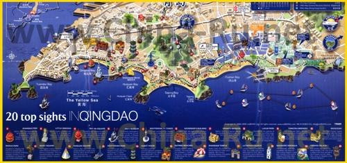 Туристическая карта Циндао с достопримечательностями