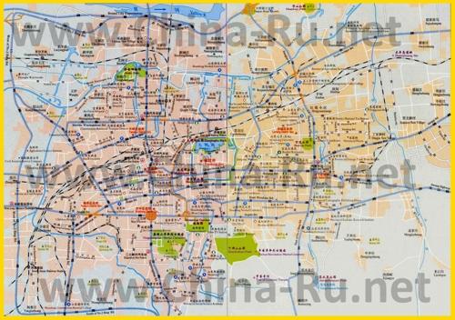 Подробная карта города Цзинань