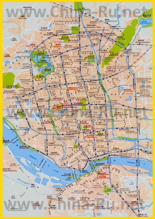 Подробная карта города Фучжоу