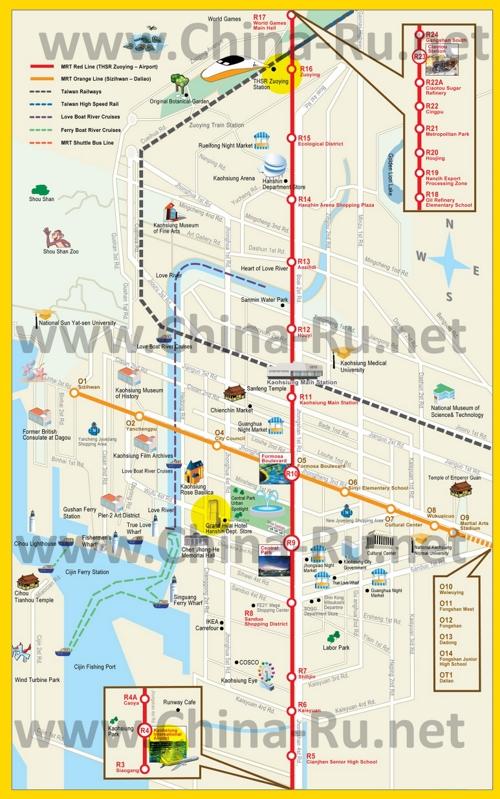 Карта метро Гаосюна