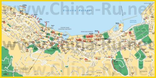 Карта центра Гонконга