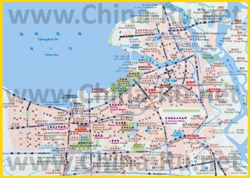 Подробная карта города Хайкоу