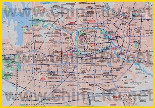 Подробная карта города Хэфэй