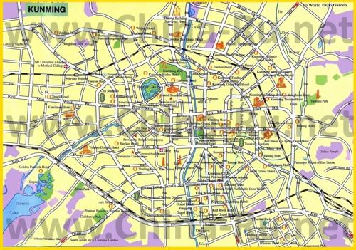 Карта отелей Куньмина