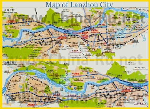Подробная карта города Ланьчжоу