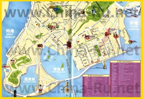 Туристическая карта Макао с достопримечательностями