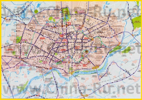 Подробная карта города Шэньян