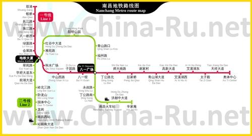 Карта метро Наньчана