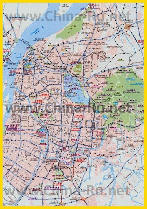 Подробная карта города Нанкин