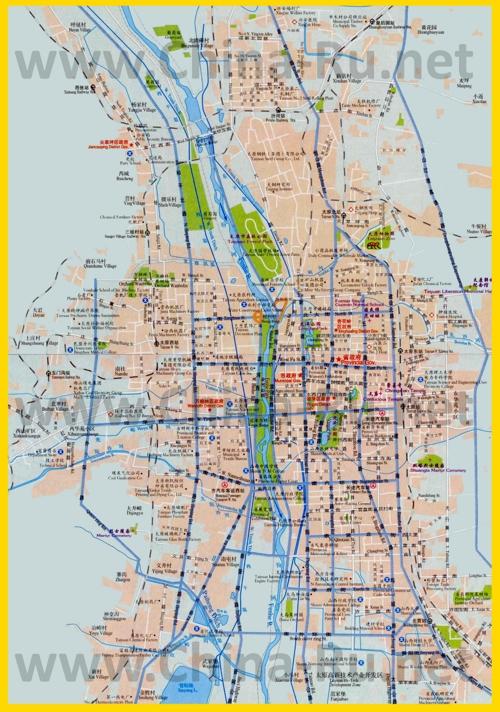 Подробная карта города Тайюань