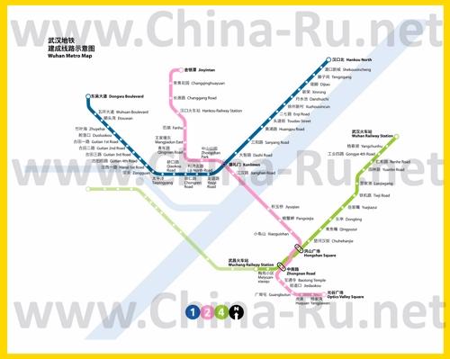 Карта метро Уханя