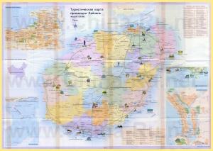 Подробная туристическая карта острова Хайнань с достопримечательностями