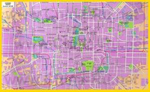 Карта центра Пекина с достопримечательностями на русском языке