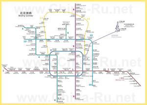 Карта метро Пекина (Схема)