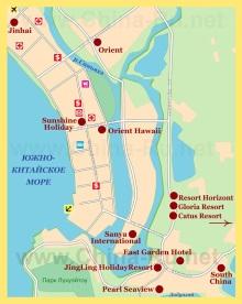 Карта Саньи на русском языке