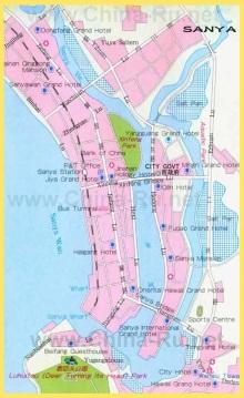 Отели Саньи на карте города