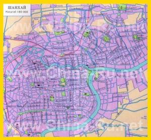 Карта Шанхая на русском языке